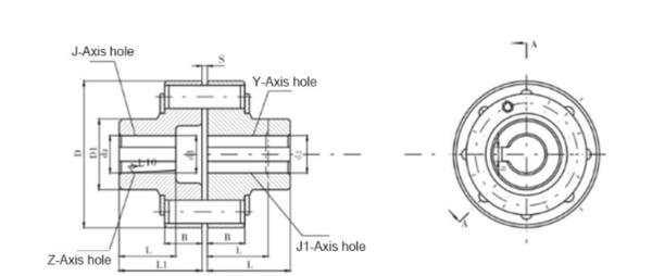 星形弹性联轴器型号_注销式联轴器HL - 沈阳三环机械厂